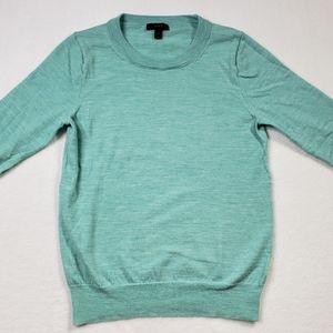 J. Crew women's 100% merino wool teal sweater med